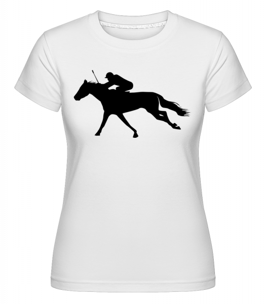 Horse Riding Black - Shirtinator Frauen T-Shirt - Weiß - Vorn