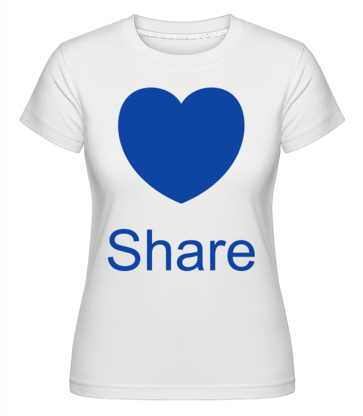 Share Heart - Shirtinator Frauen T-Shirt - Weiß - Vorn