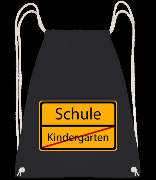 Schule Kindergarten Vorbei - Turnbeutel - Schwarz - Vorn