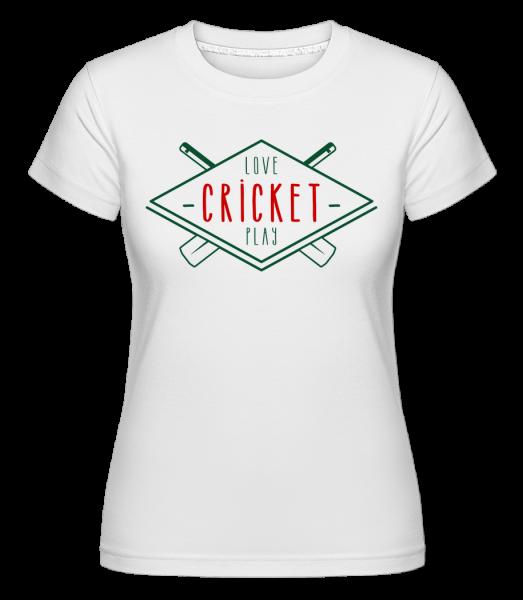 Love And Play Cricket - Shirtinator Frauen T-Shirt - Weiß - Vorn