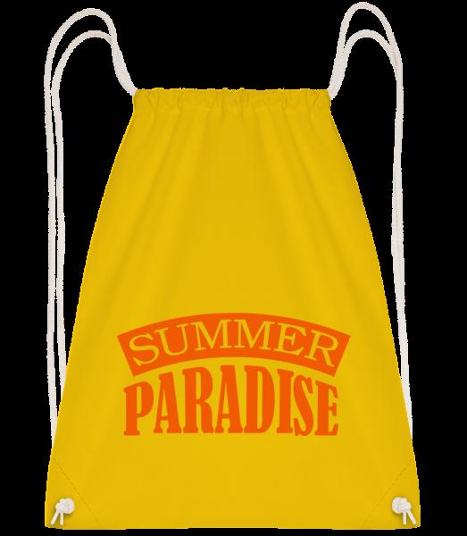 Summer Paradise Orange - Turnbeutel - Gelb - Vorn