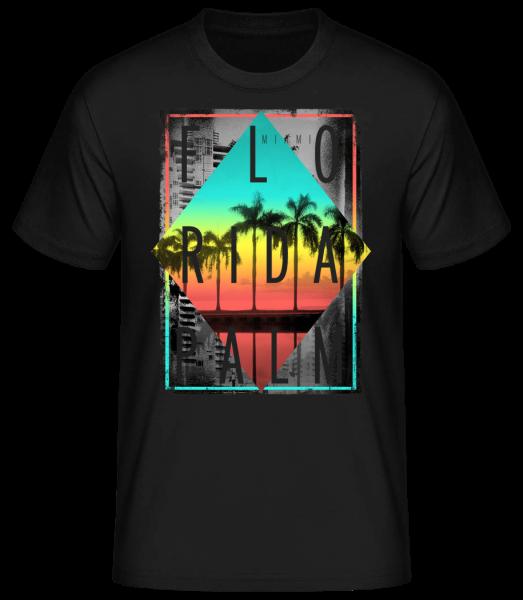 Florida Palm - Basic T-Shirt - Schwarz - Vorn