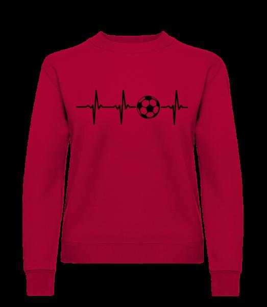 Heart Rate Football - Frauen Pullover - Rot - Vorn