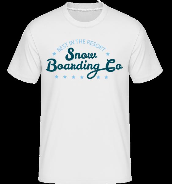 Snowboarding Co. Sign - Shirtinator Männer T-Shirt - Weiß - Vorn