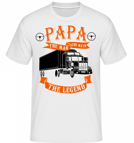 Papa The Legend - Shirtinator Männer T-Shirt - Weiß - Vorn