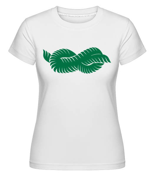 Plant Icon Green - Shirtinator Frauen T-Shirt - Weiß - Vorn