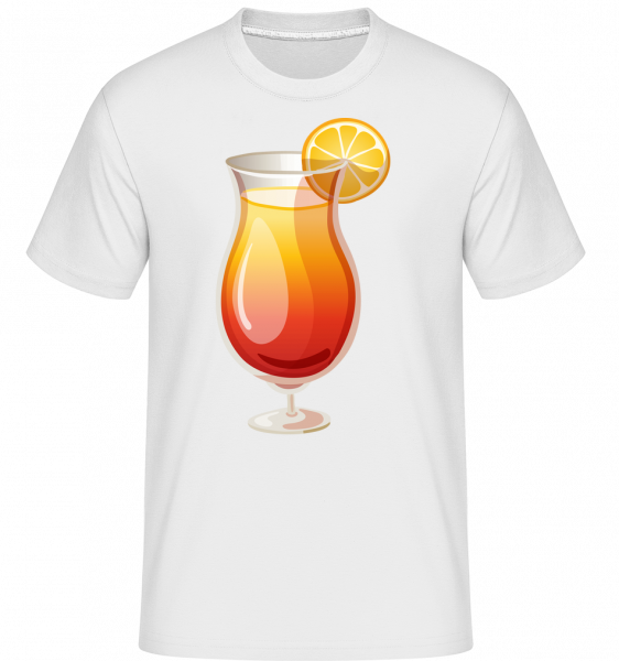 Cocktail Sex On The Beach - Shirtinator Männer T-Shirt - Weiß - Vorn