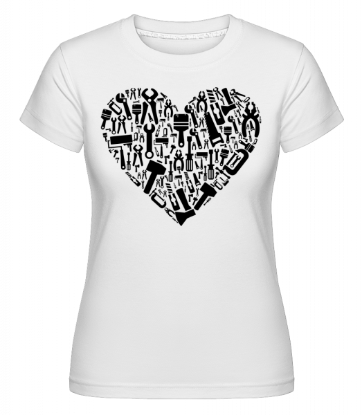 Love DIY Heart - Shirtinator Frauen T-Shirt - Weiß - Vorn