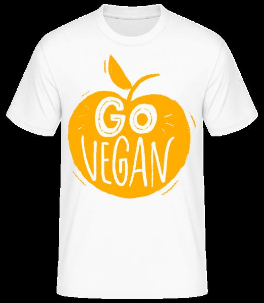 Go Vegan - Basic T-Shirt - Weiß - Vorn