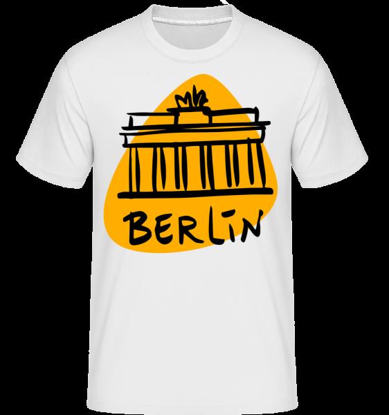Berlin Zeichen - Shirtinator Männer T-Shirt - Weiß - Vorn