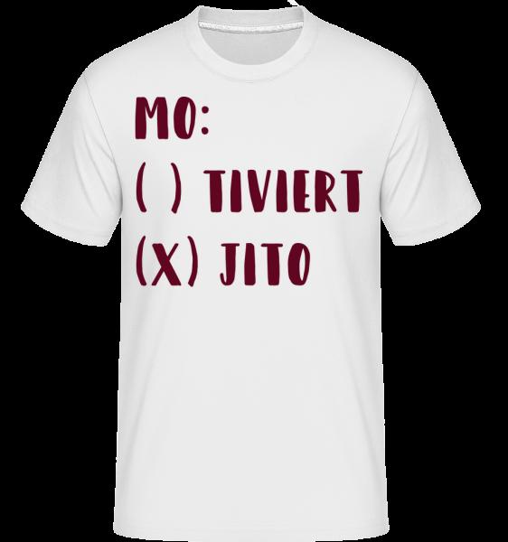 Motiviert Mojito - Shirtinator Männer T-Shirt - Weiß - Vorn