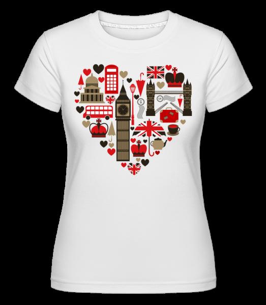 London Love Heart - Shirtinator Frauen T-Shirt - Weiß - Vorn