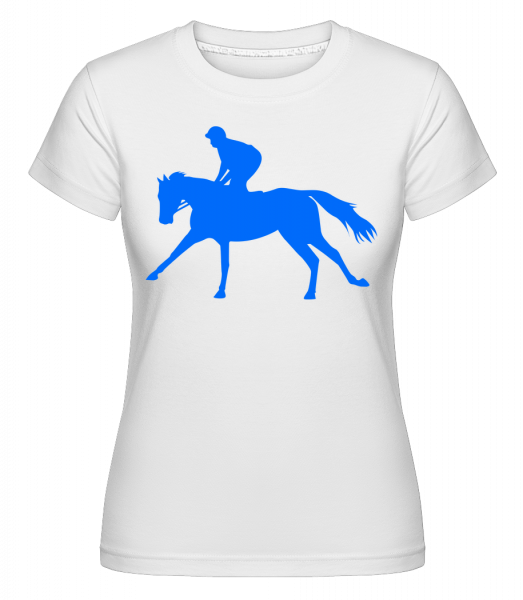 Horse Riding Blue - Shirtinator Frauen T-Shirt - Weiß - Vorn