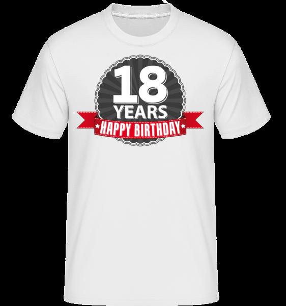 18 Years Birthday - Shirtinator Männer T-Shirt - Weiß - Vorn