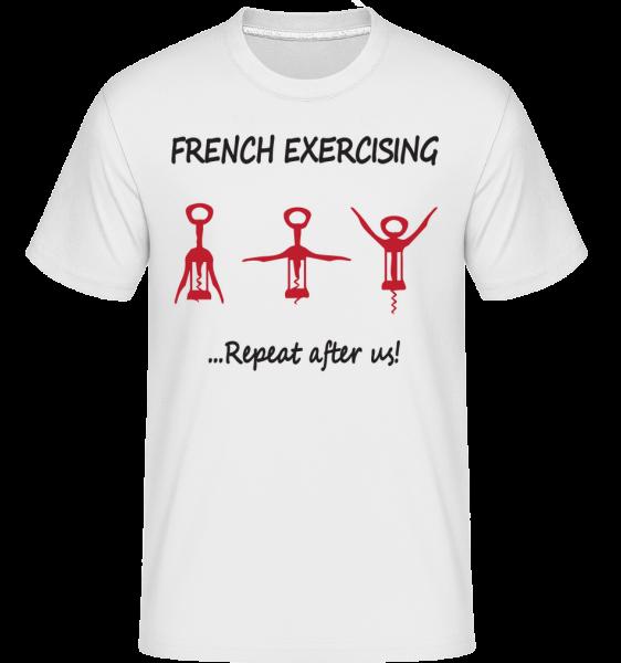 French Exercising - Shirtinator Männer T-Shirt - Weiß - Vorn