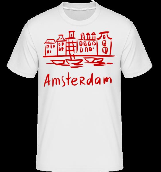 Amsterdam Chinesischer Stil - Shirtinator Männer T-Shirt - Weiß - Vorn
