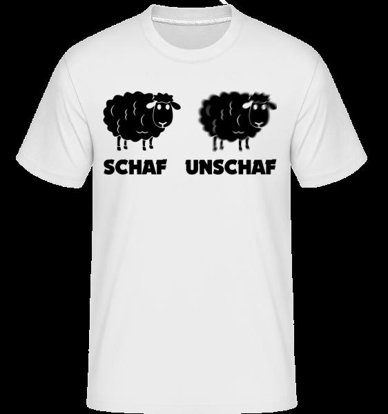 Schaf Unschaf - Shirtinator Männer T-Shirt - Weiß - Vorn