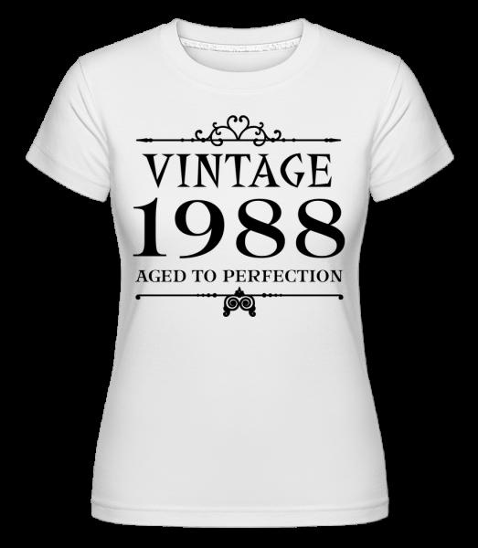 Vintage 1988 Perfection - Shirtinator Frauen T-Shirt - Weiß - Vorn