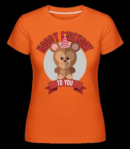 Happy Birthday To You Affe - Shirtinator Frauen T-Shirt - Orange - Vorn