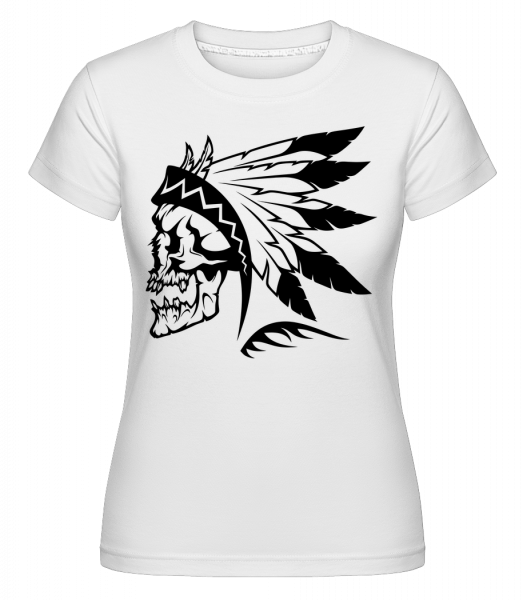 Wild West Skull - Shirtinator Frauen T-Shirt - Weiß - Vorn