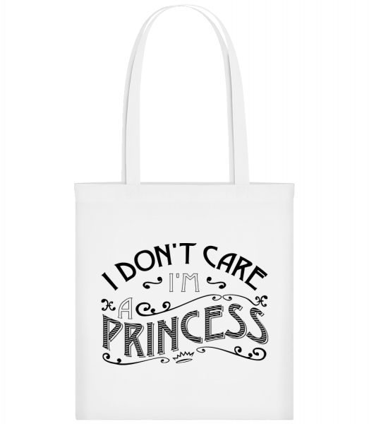 I Don't Care I'm A Princess - Stoffbeutel - Weiß - Vorn