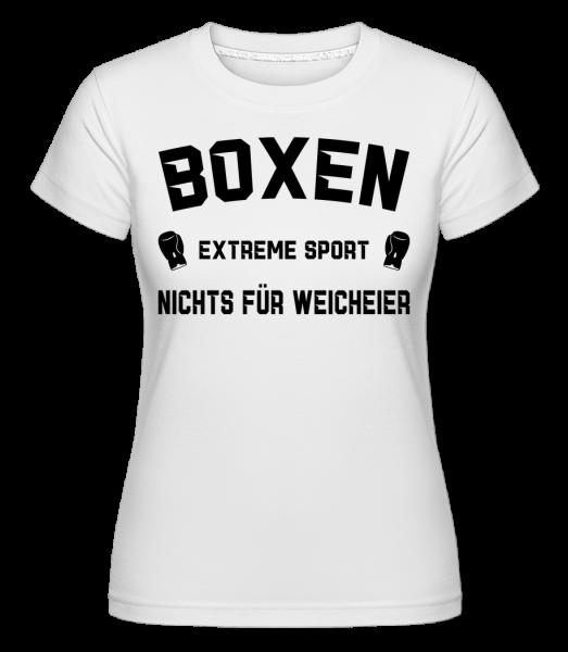 Boxen Extremsport - Shirtinator Frauen T-Shirt - Weiß - Vorn