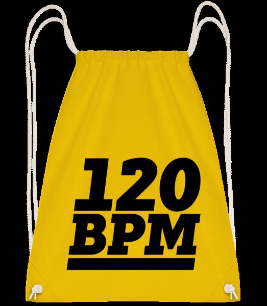 120 BPM Logo - Turnbeutel - Gelb - Vorn
