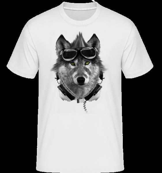 Biker Wolf - Shirtinator Männer T-Shirt - Weiß - Vorn
