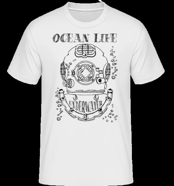 Ocean Life Logo - Shirtinator Männer T-Shirt - Weiß - Vorn