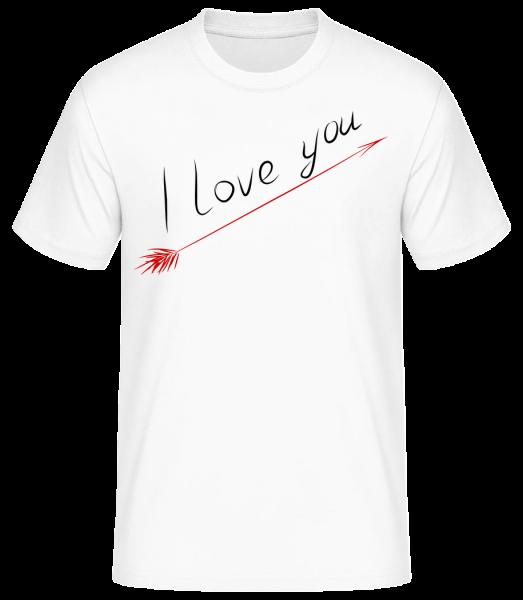I Love You - Männer Basic T-Shirt  - Weiß - Vorn