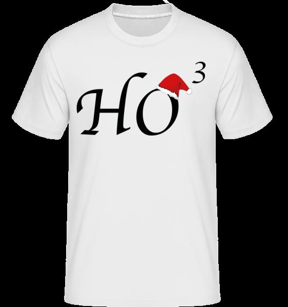 Ho * 3 - Shirtinator Männer T-Shirt - Weiß - Vorn