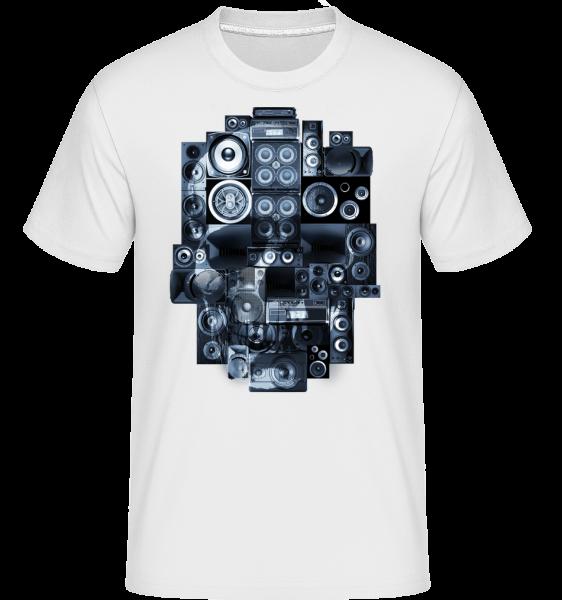 Ghettoblaster Totenschädel - Shirtinator Männer T-Shirt - Weiß - Vorn
