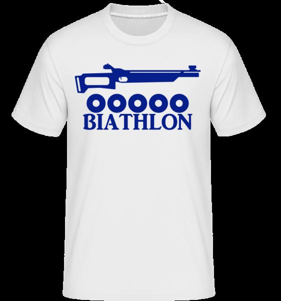 Biathlon Icon Blue - Shirtinator Männer T-Shirt - Weiß - Vorn