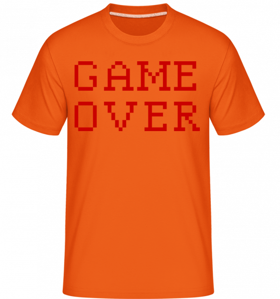 Game Over Pixel - Shirtinator Männer T-Shirt - Orange - Vorn