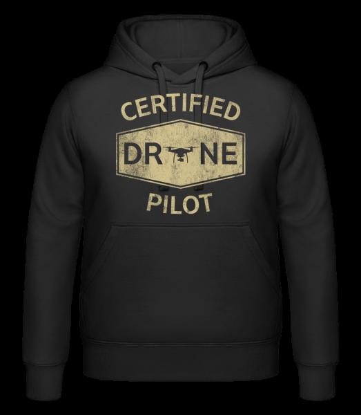 Certified Drone Pilot - Kapuzenhoodie - Schwarz - Vorn