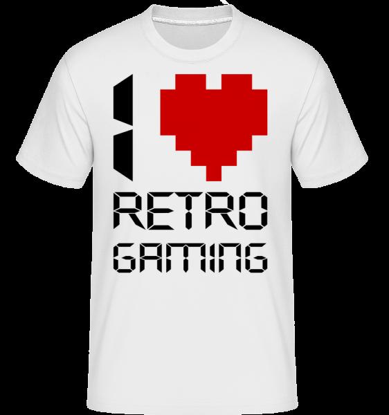 I Love Retro Gaming - Shirtinator Männer T-Shirt - Weiß - Vorn