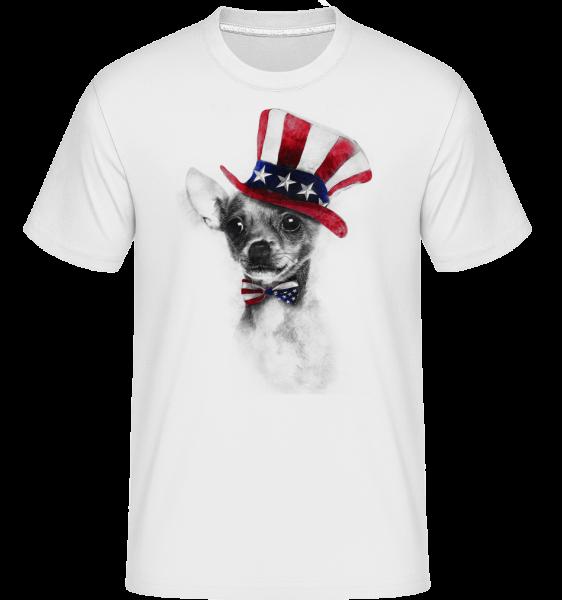 USA Chihuahua - Shirtinator Männer T-Shirt - Weiß - Vorn