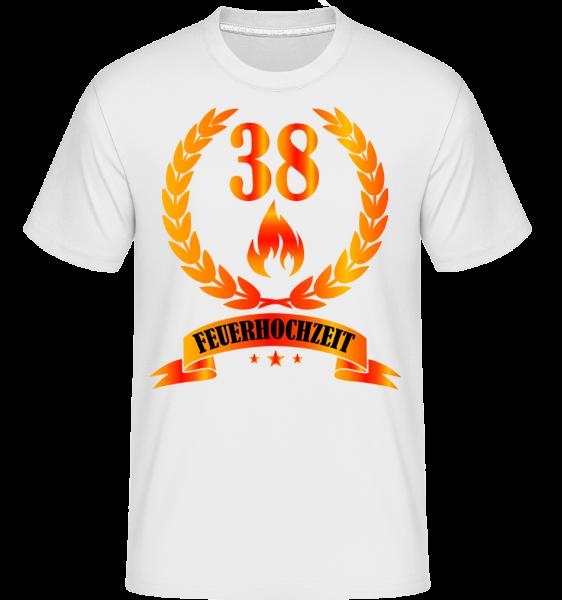 38 Jahre Feuerhochzeit - Shirtinator Männer T-Shirt - Weiß - Vorn