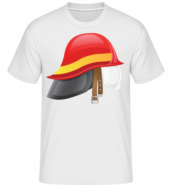 Fire Protection Symbol - Shirtinator Männer T-Shirt - Weiß - Vorn