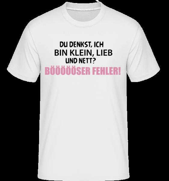 Ich Klein Und Nett? - Shirtinator Männer T-Shirt - Weiß - Vorn
