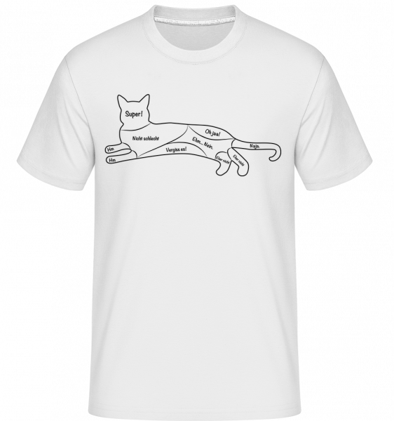 Pet The Cat - Shirtinator Männer T-Shirt - Weiß - Vorn