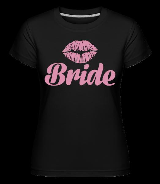 Bride Kiss - Shirtinator Frauen T-Shirt - Schwarz - Vorn