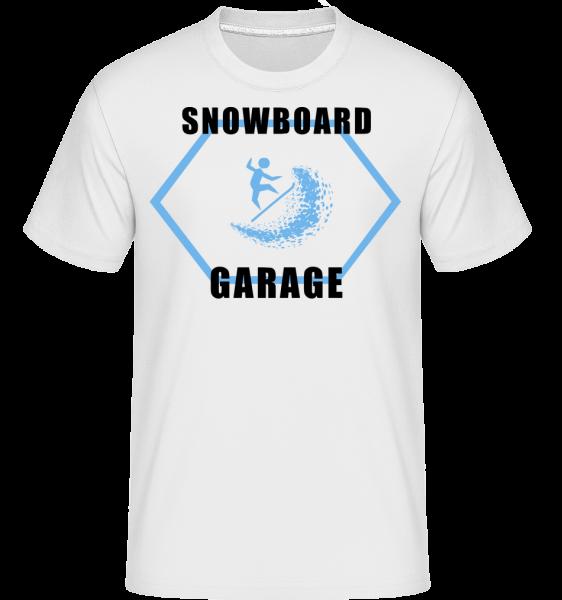 Snowboard Garage Sign - Shirtinator Männer T-Shirt - Weiß - Vorn