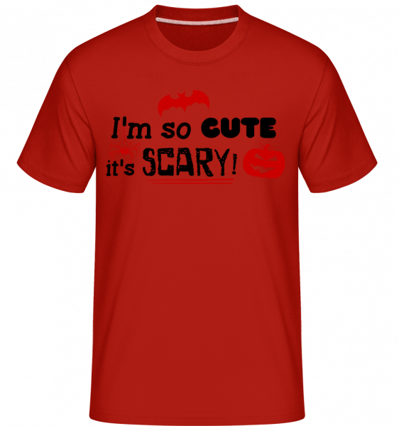 So Cute It's Scary - Shirtinator Männer T-Shirt - Rot - Vorn