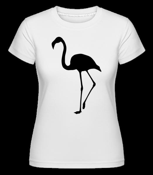 Flamingo Schatten - Shirtinator Frauen T-Shirt - Weiß - Vorn