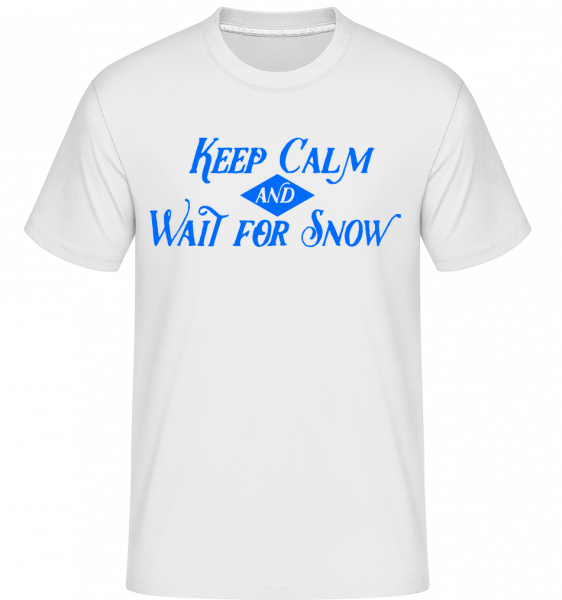 Wait For Snow - Shirtinator Männer T-Shirt - Weiß - Vorn