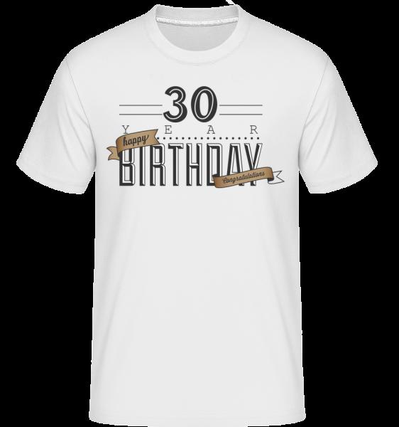 30 Birthday Sign - Shirtinator Männer T-Shirt - Weiß - Vorn