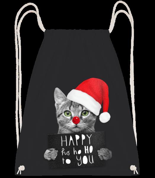 Happy Ho Ho Ho To You - Turnbeutel - Schwarz - Vorn