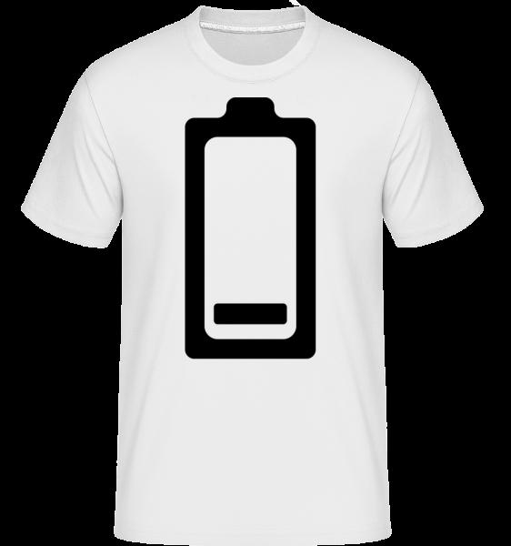 Akku Schwach Symbol - Shirtinator Männer T-Shirt - Weiß - Vorn