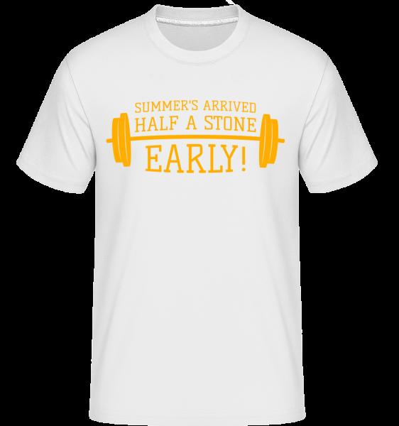 Summer's Arrived Half A Stone Ea - Shirtinator Männer T-Shirt - Weiß - Vorn